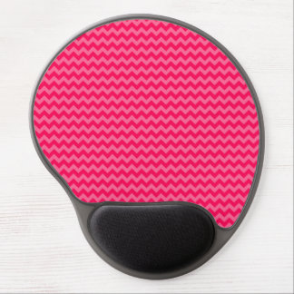 Pink on Pink Chevron Stripe Gel Mouse Mats