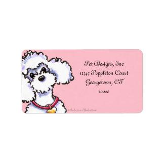 Pink on Pink Collar Poodle Label