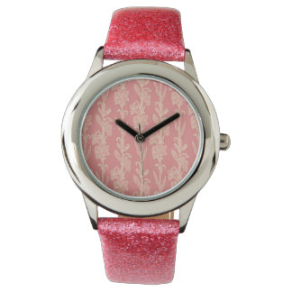 Pink on Pink Floral Watches
