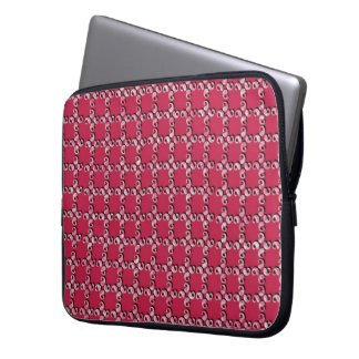 Pink one examined laptop sleeve