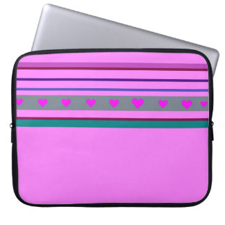 Pink one laptop sleeve