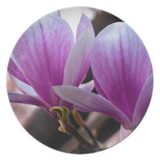 PINK ONE MAGNOLIA PLATE