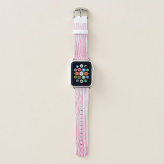 Pink optical lines apple watch band
