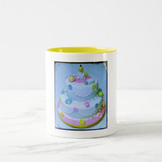 Pink or Blue Baby Cake Coffee Mugs