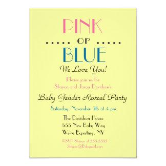 Pink or Blue Gender Reveal Invitation