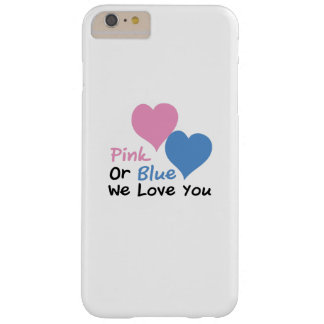 Pink Or Blue We Love You Baby Shower Gender Reveal Barely There iPhone 6 Plus Case