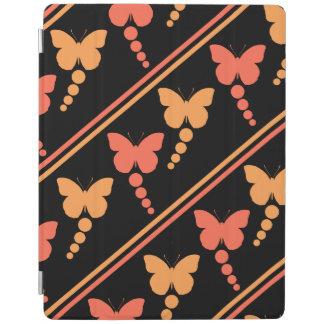 Pink Orange Black Butterflies Dots Stripes Print iPad Smart Cover