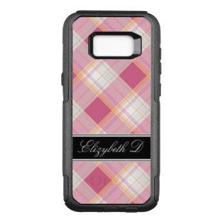 Pink Orange Black Plaid Samsung Galaxy S8