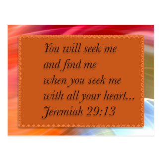 Pink Orange Blue Christian Bible Verse Postcard