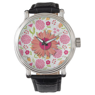 Pink & Orange Flower Toss Watches