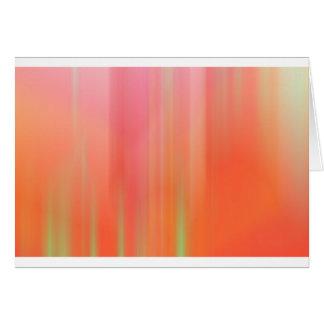 Pink & Orange Motion Blur Greeting Card