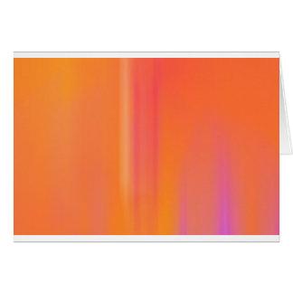 Pink & Orange Motion Blur: Greeting Card