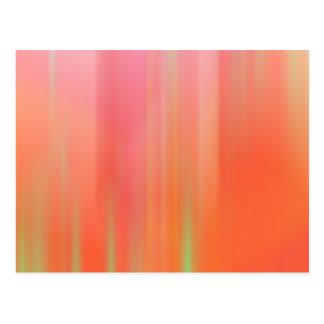 Pink & Orange Motion Blur Postcard