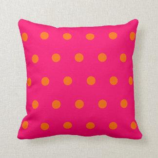 Pink Orange Polka Dots Cushions