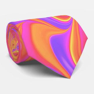 Pink Orange Purple Swirl Tie