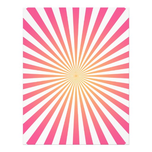 Pink orange radial lines custom template personalized flyer
