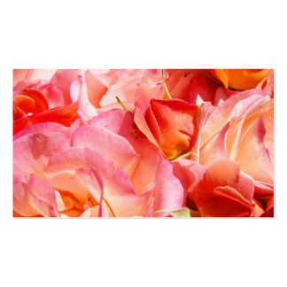 Pink Orange Rose Flowers Business Cards Women