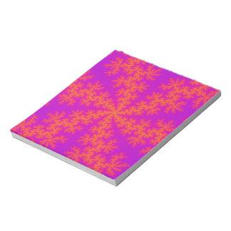 Pink Orange Snowflake Notepad