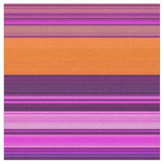 Pink Orange Stripe Fabric