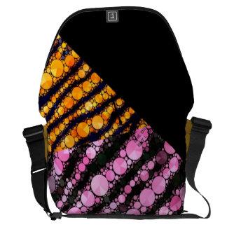 Pink Orange Tiger Courier Bags