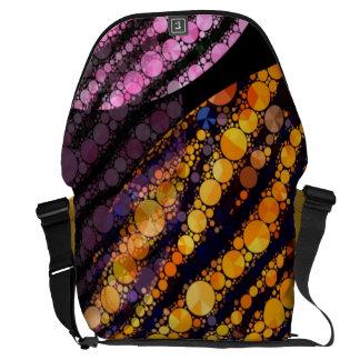 Pink Orange Tiger Pattern Courier Bags