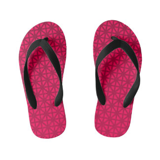 pink/orange union jack pattern kid's flip flops thongs