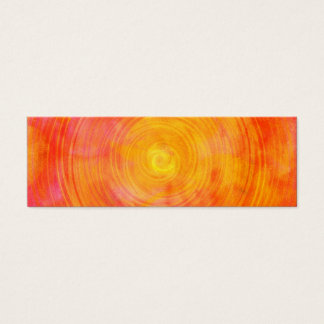 Pink Orange Watercolor Circle Abstract Background Mini Business Card