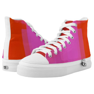 Pink Orange White Sneakers