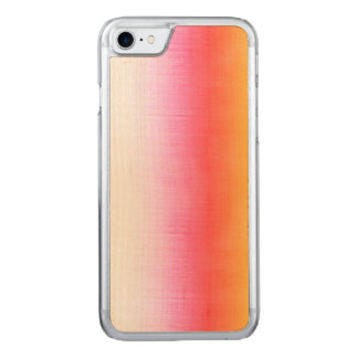 Pink Orange Yellow Ombre Watercolor Sky Carved iPhone 7 Case