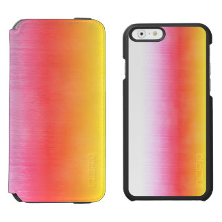 Pink Orange Yellow Ombre Watercolor Sky Incipio Watson™ iPhone 6 Wallet Case