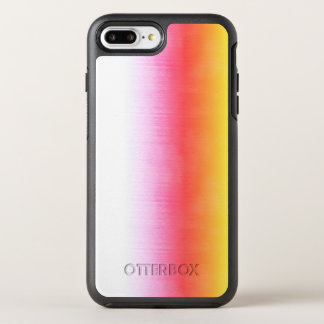 Pink Orange Yellow Ombre Watercolor Sky OtterBox Symmetry iPhone 7 Plus Case