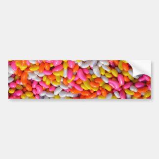 Pink Orange Yellow Sprinkles Candy Pattern Bumper Sticker