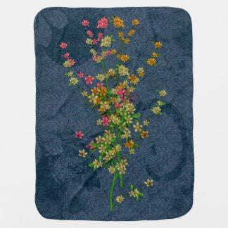 Pink, Orange & Yellow Wildflowers Swaddle Blankets