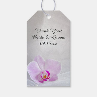 Pink Orchid and Bridal Veil Wedding Favor Tags