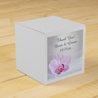 Pink Orchid and White Bridal Veil Wedding Wedding Favour Boxes