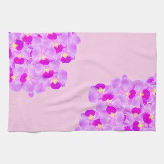 Pink Orchid Bouquet Tea Towel