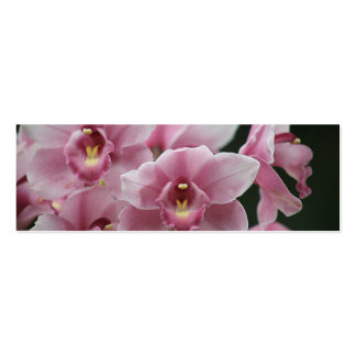 pink orchid close up bookmark pack of skinny business cards