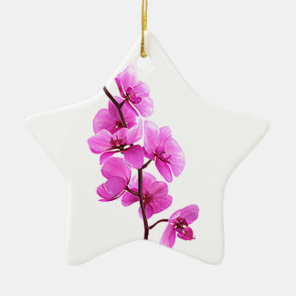 Pink orchid ornaments