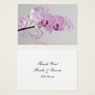 Pink Orchid Elegance Thank You Favor Tags Business Card