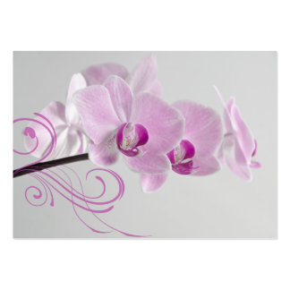 Pink Orchid Elegance Thank You Favor Tags Pack Of Chubby Business Cards