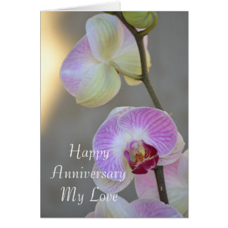 Pink Orchid Expression Anniversary Card