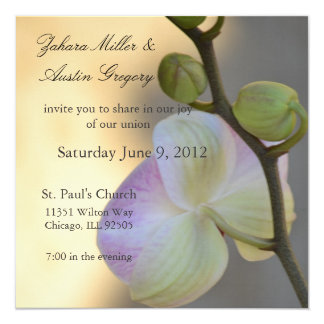 Pink Orchid Expression Wedding Invitation