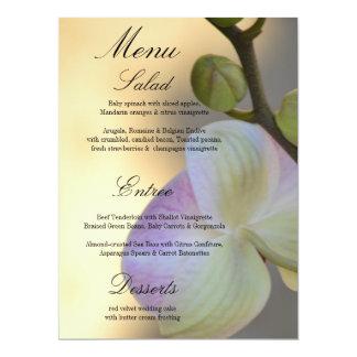 Pink Orchid Expression Wedding Menu Card 17 Cm X 22 Cm Invitation Card