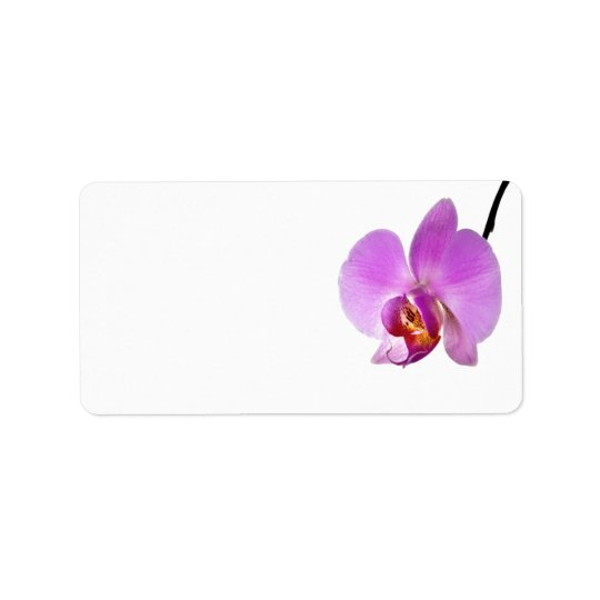 Pink Orchid Flower Address Label