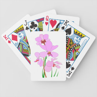 Pink Orchid Flowers Bicycle Playing Cards