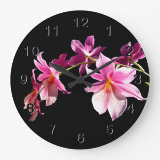 Pink Orchid. Large Clock