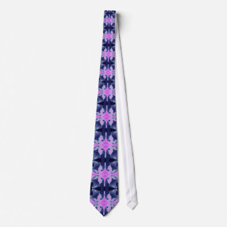 Pink Orchid Mosaic Tie
