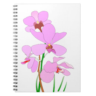 Pink Orchid Notebooks