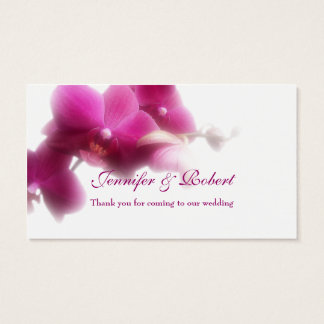 """Pink Orchid Place Card (3.5"""" x 2.0"""", 100 pack)"""