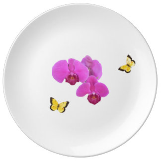 Pink Orchid Plate